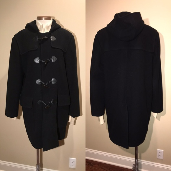 Cole Haan Other - Cole Haan Black Hooded Toggle Coat Jacket